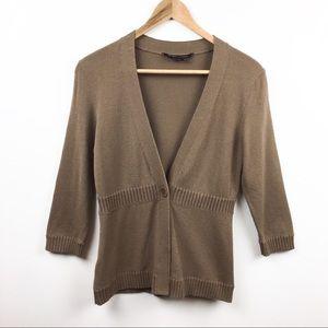 BCBGMaxAzria Cardigan Sweater Brown Size M
